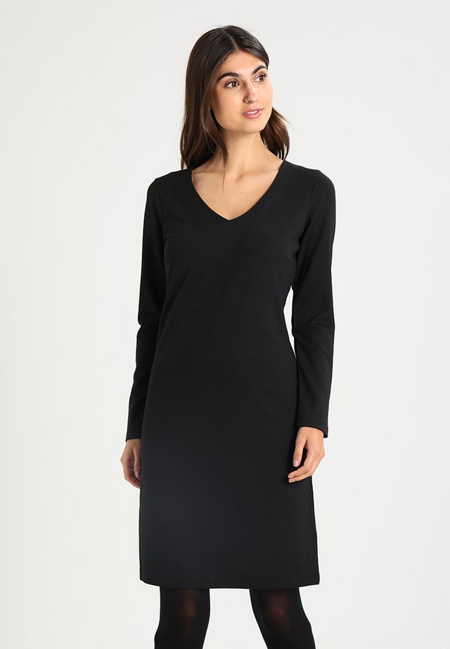 DENA SOLID - Jersey dress - black