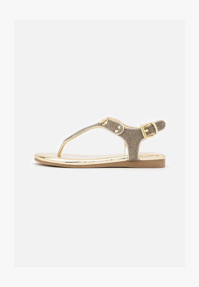 TILLY JESSICA - T-bar sandals - soft gold shimmer