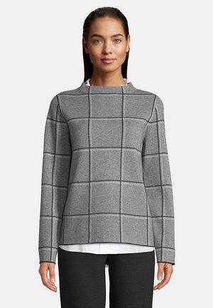 MIT STEHKRAGEN - Sweatshirt - grau/schwarz