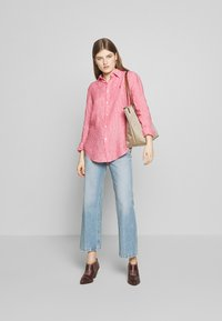 Polo Ralph Lauren - RELAXED LONG SLEEVE - Button-down blouse - red/white - 1