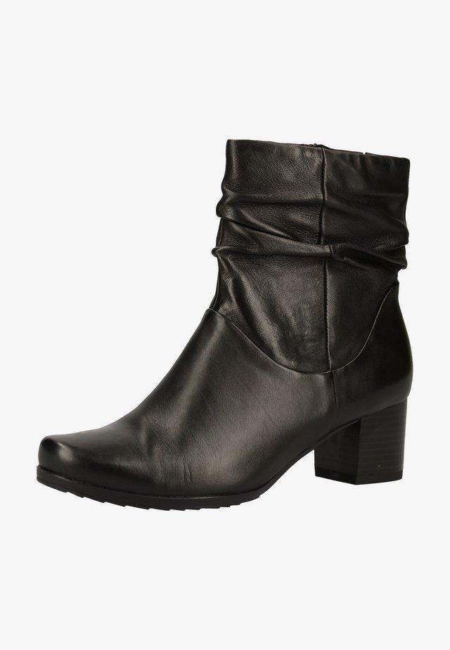 Ankle boot - black soft nap 040