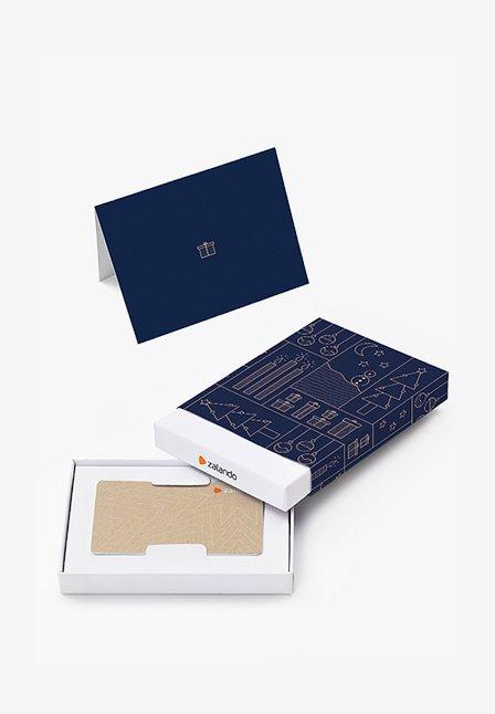 XMAS - Tarjeta regalo en una caja - blue