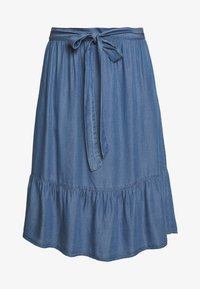 Culture - CUMINDY SKIRT - Áčková sukně - blue wash - 3