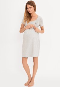 Cool Mama - BAMBOO MATERNITY & NURSING  BASIC - Negligé - grey