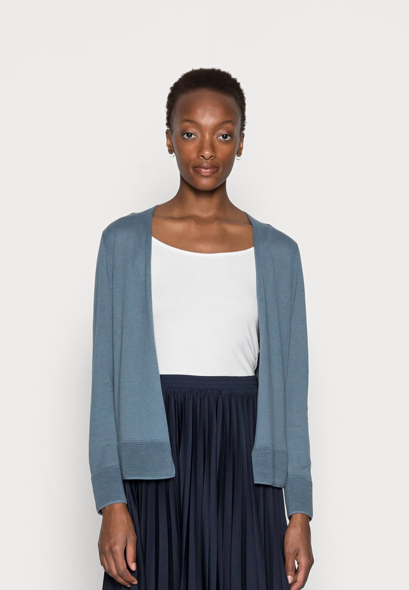 Esprit - CARDI OPEN - Cardigan - grey blue