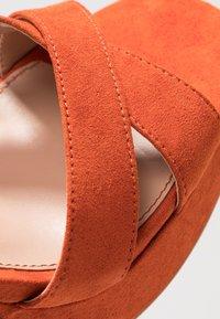 ONLY SHOES - Sandály na vysokém podpatku - orange - 2