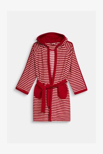 KINDER-BADEMANTEL MIT ZIPFELMÜTZE - Dressing gown - raspberry