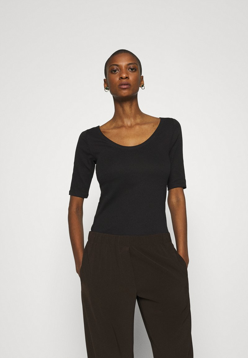 GAP - MOD BALLET - Basic T-shirt - true black