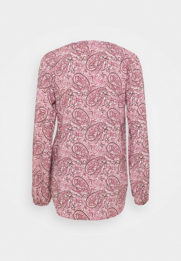 Soyaconcept ODELIA - Bluzka z długim rękawem - dark pink/rose combi/jasnorÓżowy KWIX