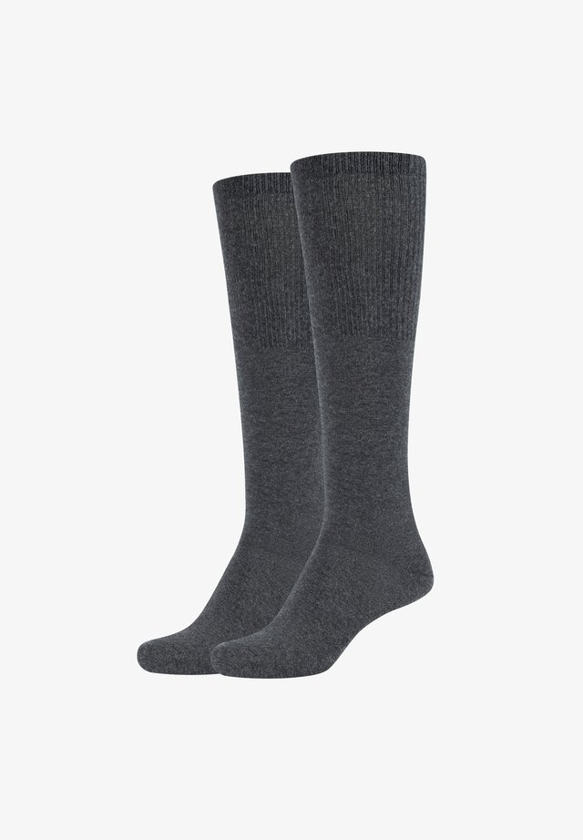 GRACE - Knee high socks - anthracite melange