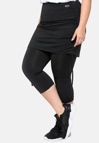 Sheego - Leggings - Trousers - black - 3