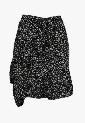 TINA - Wrap skirt - schwarz
