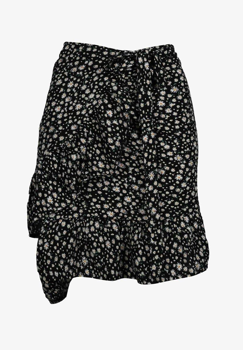 Zwillingsherz - TINA - Wrap skirt - schwarz