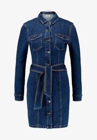 Vero Moda - VMTARA SHORT DRESS - Denim dress - dark blue denim - 5