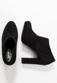 New Look - QUEUE - High heeled ankle boots - black - 3
