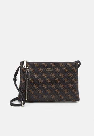 NAYA DOUBLE ZIP CROSSBODY - Schoudertas - black