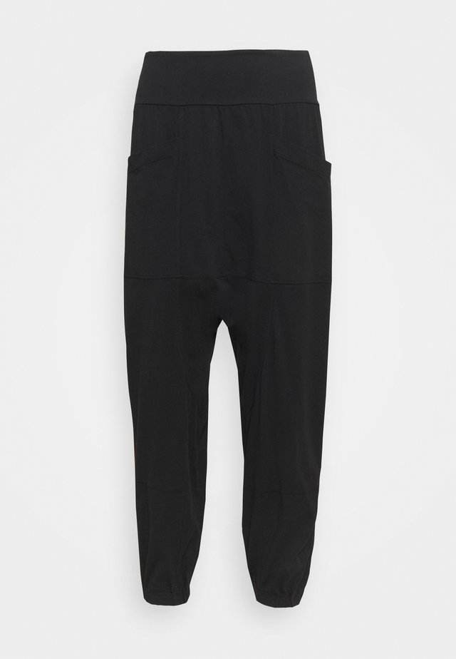 RELAXED YOGA PANTS - Pantaloni sportivi - black