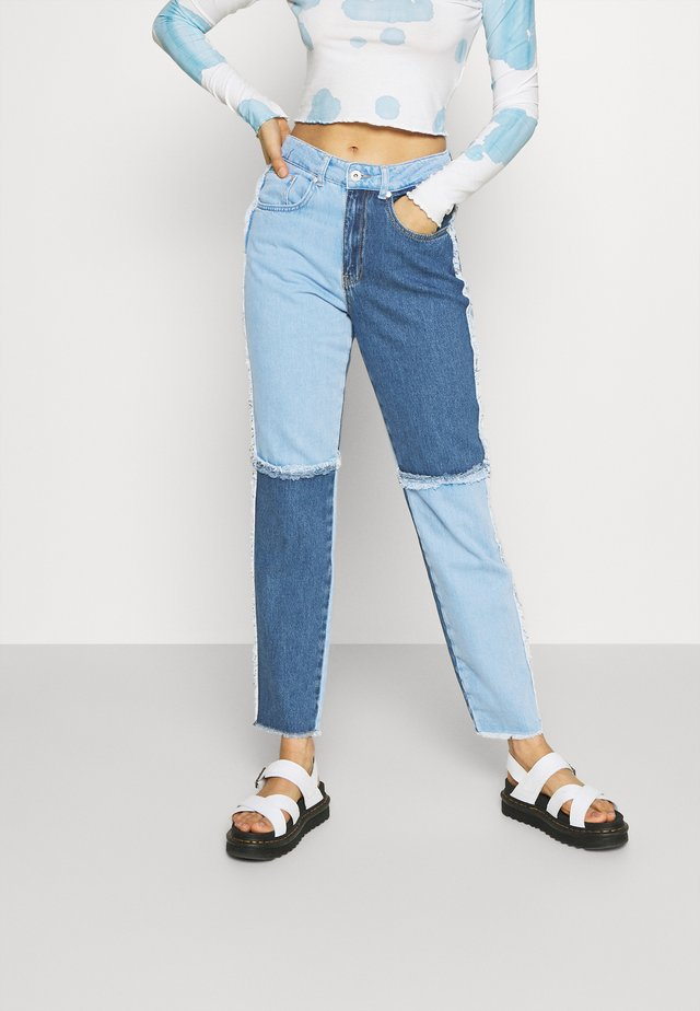 QUARTER PANEL MOM  - Džíny Slim Fit - blue