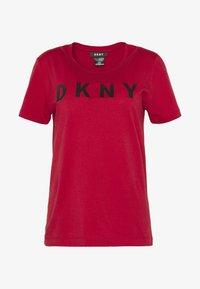 DKNY - FOUNDATION LOGO TEE - Print T-shirt - red/black - 3
