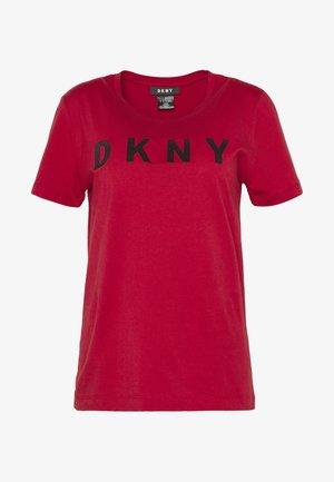 FOUNDATION LOGO TEE - Print T-shirt - red/black