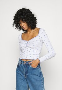 BDG Urban Outfitters - POINTELLE DITSY - Langarmshirt - white - 0