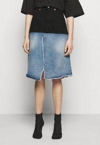 MM6 Maison Margiela - Denim skirt - blue - 0