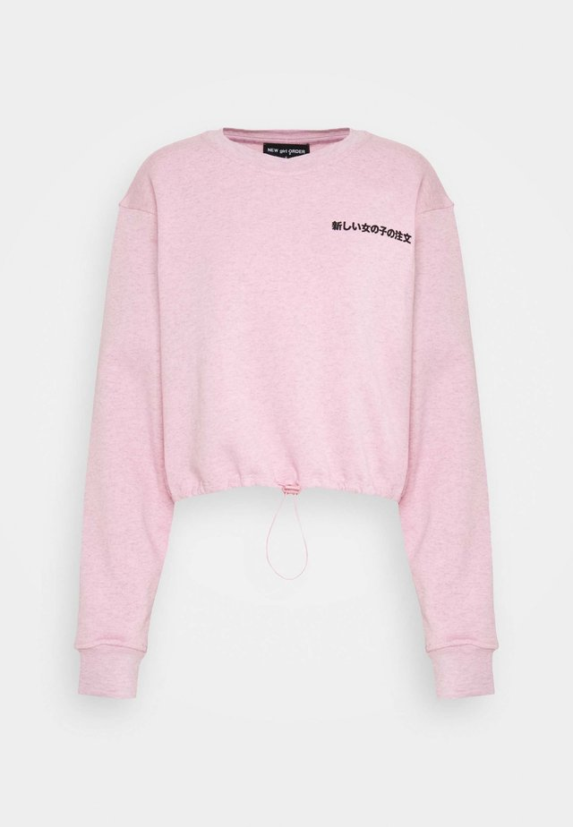 EMBROIDERED TEXT - Sweatshirt - pink