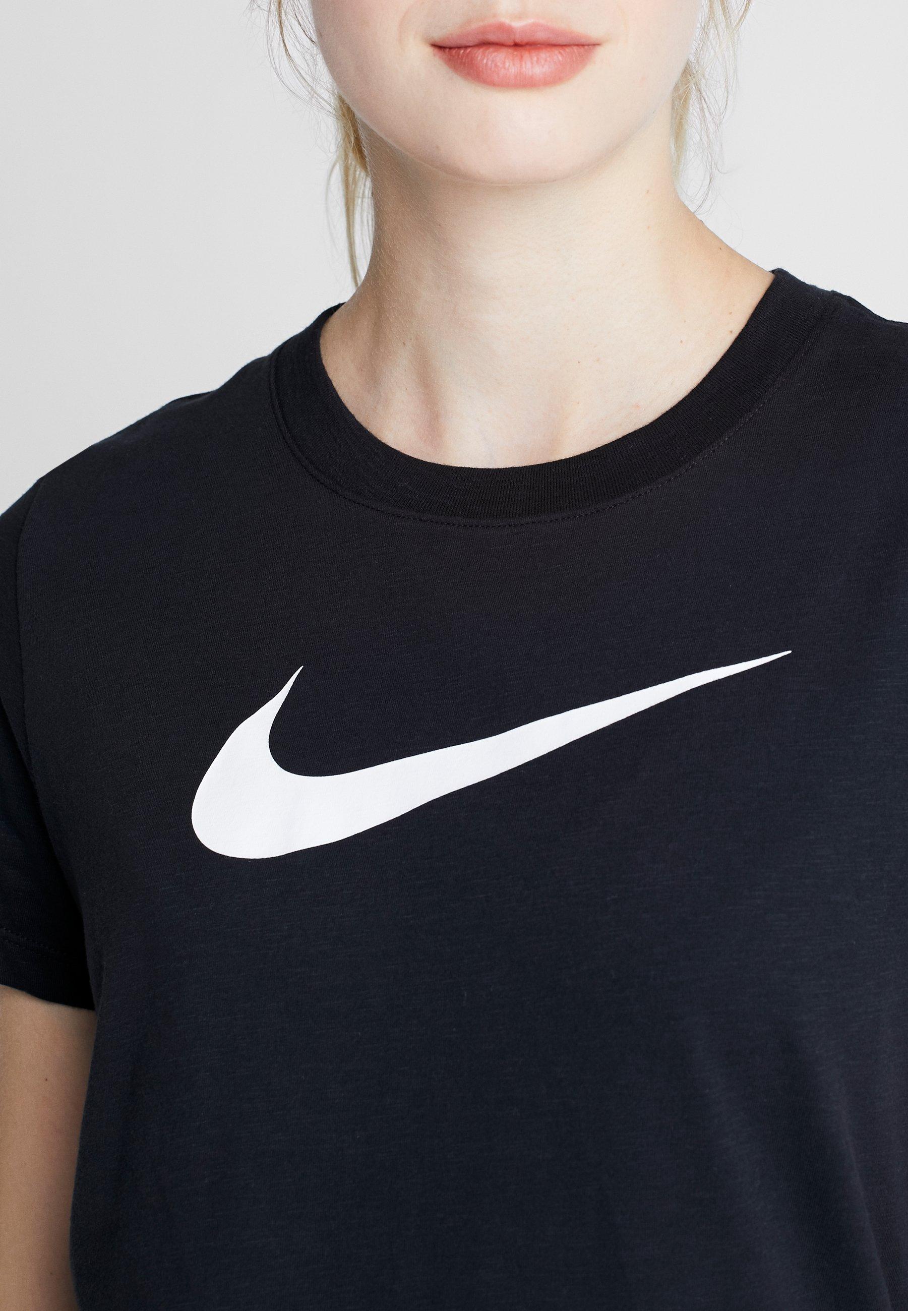 Nike Performance DRY TEE CREW - Print T-shirt - black/white p3XLG
