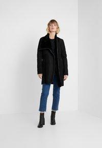 VSP - CLASSIC ZIPPER - Classic coat - merino black - 1