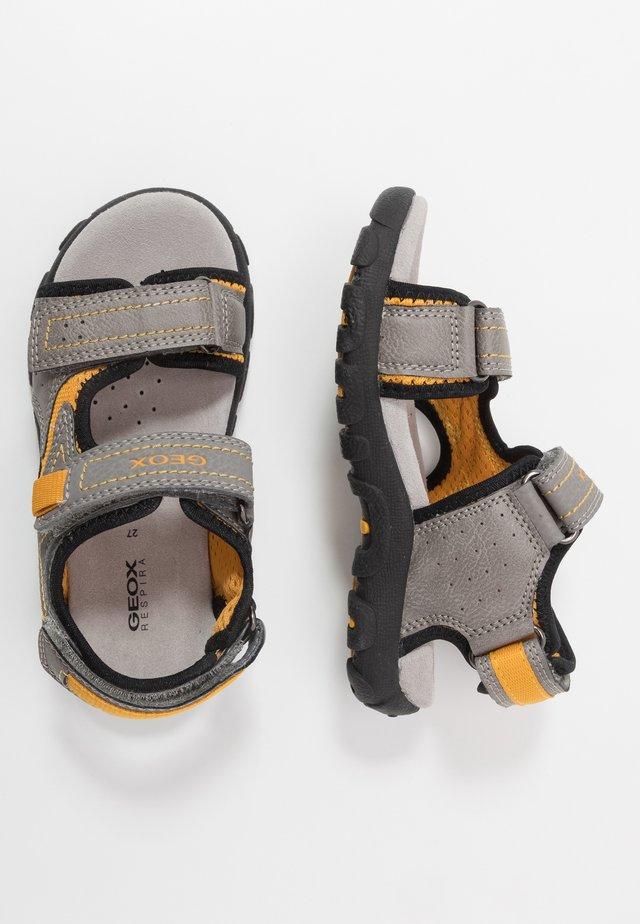 STRADA - Walking sandals - grey/dark yellow