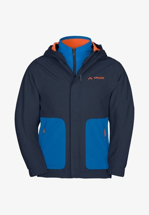 KIDS CAMPFIRE 3IN1 JACKET IV - Outdoor jacket - stahlblau