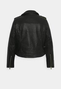 Simply Be - BIKER - Faux leather jacket - black - 1