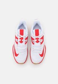 Nike Performance - COURT VAPOR LITE - Multicourt tennis shoes - white/university red/wheat - 3