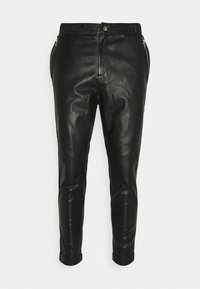Tigha - ALEKO CROPPED  - Leather trousers - black - 0