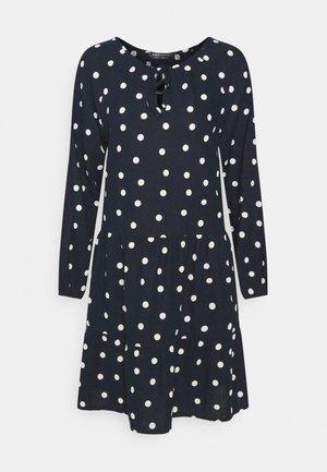 TIE NECK SWING - Day dress - dark blue