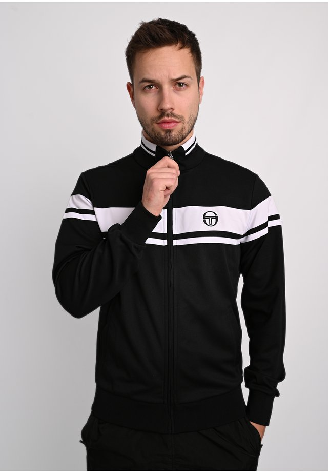 DAMARINDO - Training jacket - blk/wht