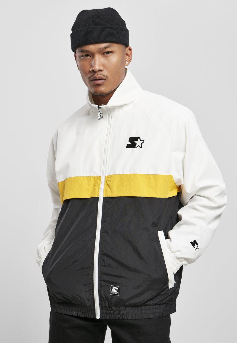 Starter - Summer jacket - white/black/golden