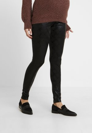 MLTESSA SNAKE - Leggings - Trousers - black