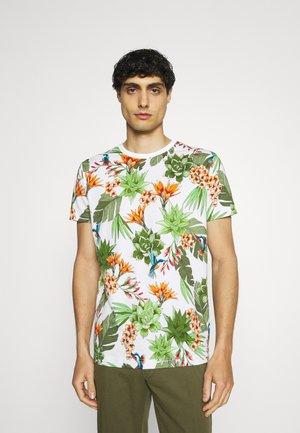 HUMMING GARDEN  - Print T-shirt - eggshell