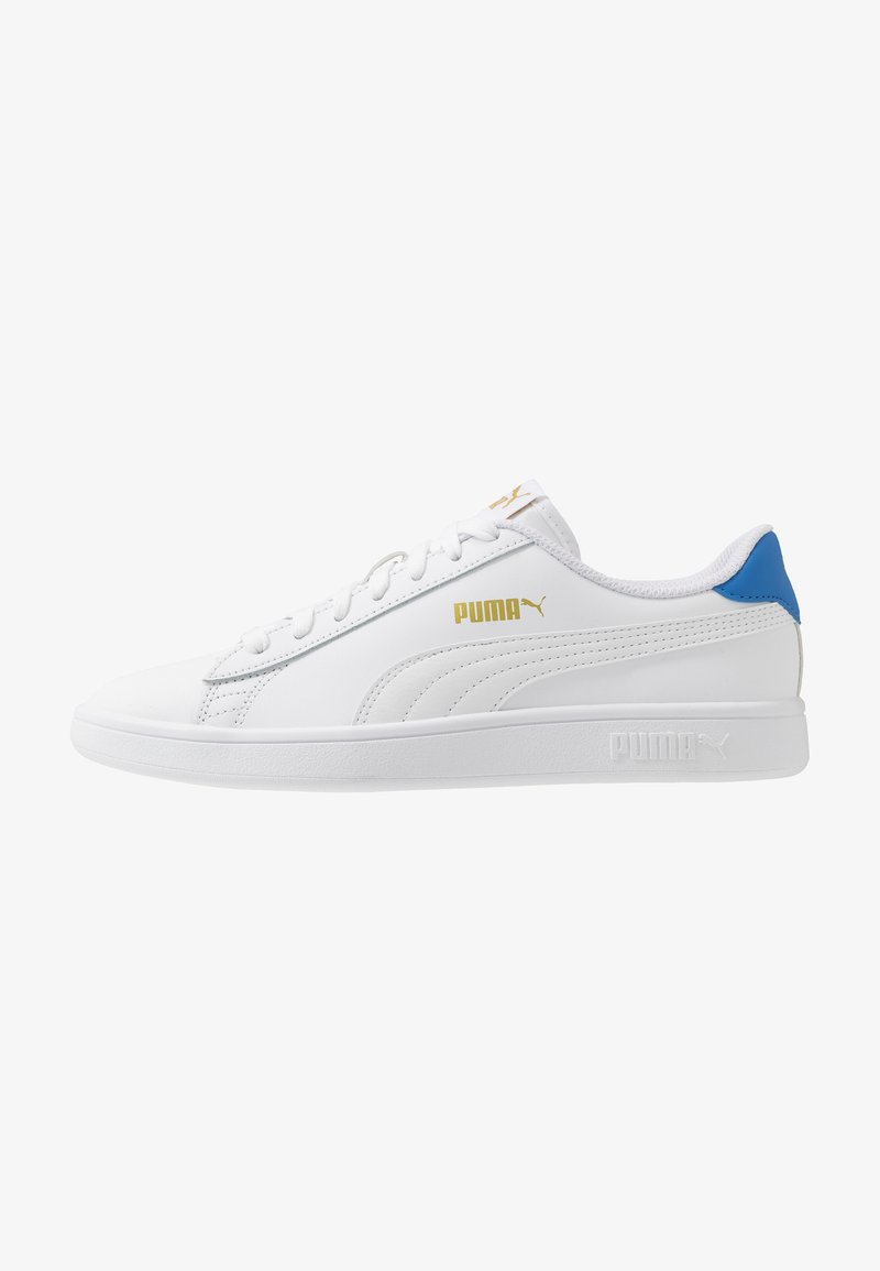 Puma - SMASH  - Trainers - white/palace blue/team gold