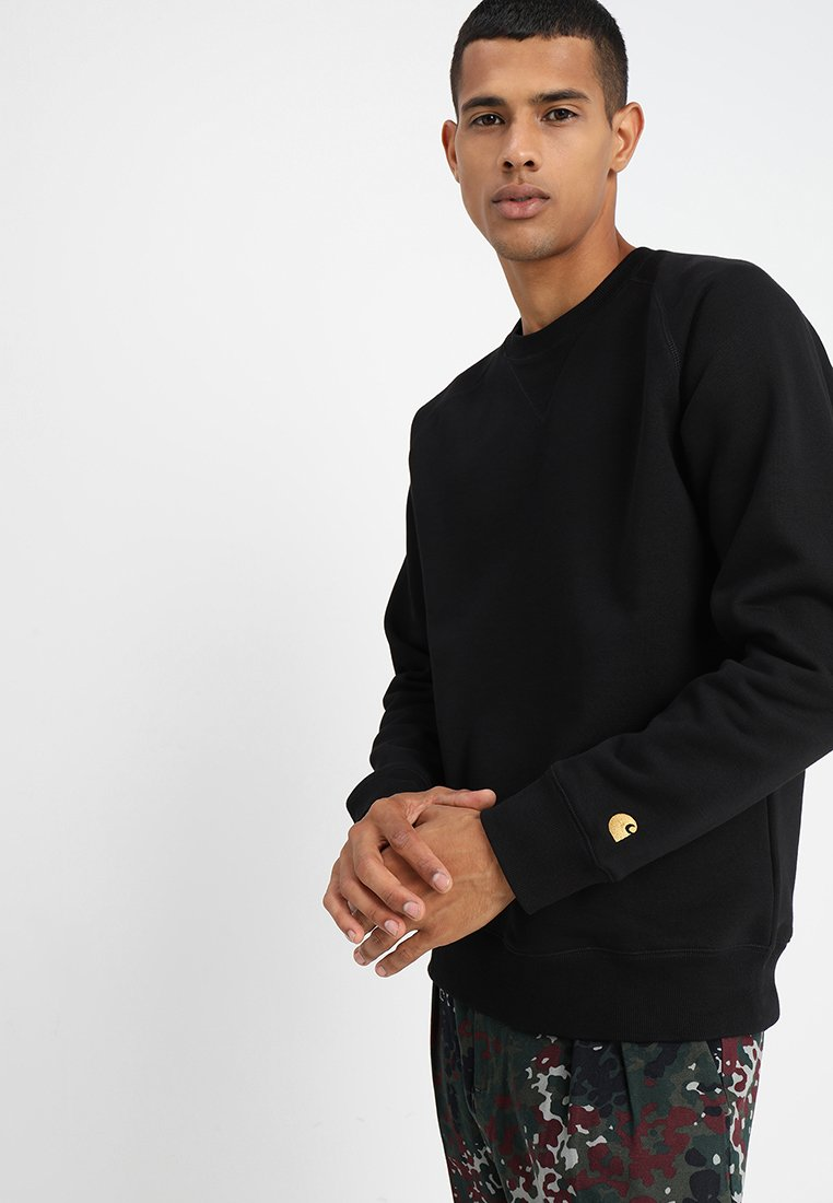 Carhartt WIP - CHASE  - Mikina - black/gold