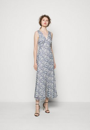 Maxi dress - blue/cream