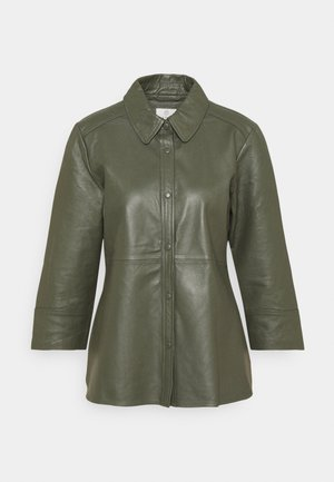 KABASMA  - Leather jacket - grape leaf