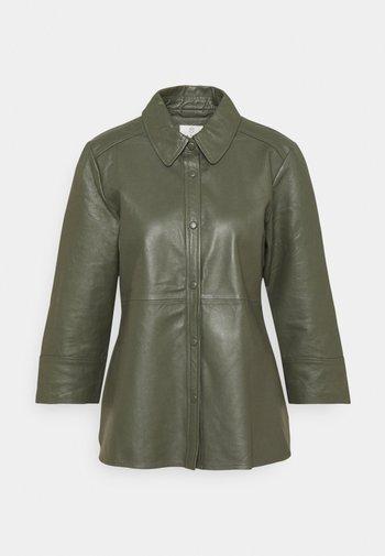 KABASMA  - Leather jacket - grape leaf