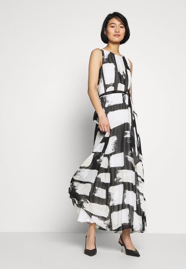SMUDGE COLOURBLOCK PLEATED MAXI - Iltapuku - black