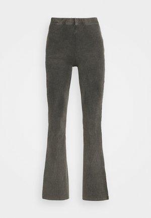 ACID SPLIT FLARE - Pantalones - black