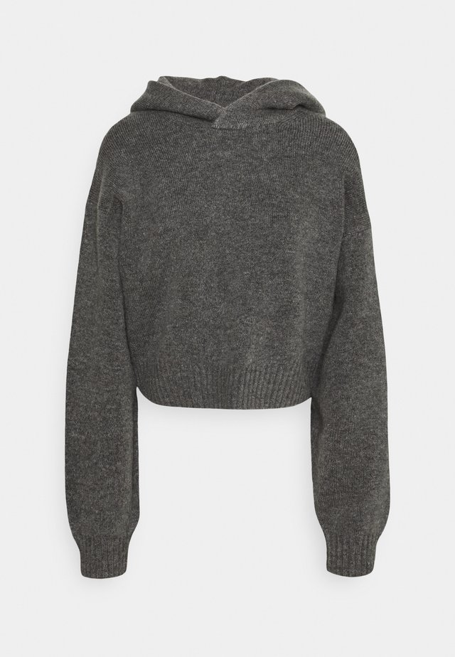 AMBRA HOODIE - Sweater - grey melange