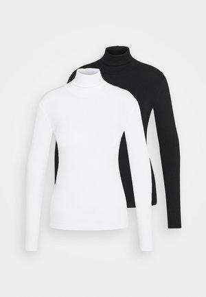 2 PACK - Topper langermet - black/white