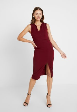SLEEVELESS BONE MIDI DRESS - Sukienka koktajlowa - wine
