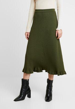 SKIRT - A-line skirt - dark olive